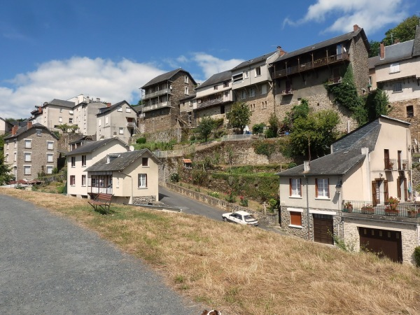 Houses built on the steep banks